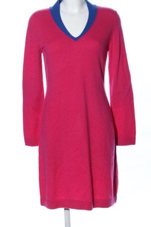 Kleidermanufaktur Habsburg Gebreide jurk roze-blauw casual uitstraling