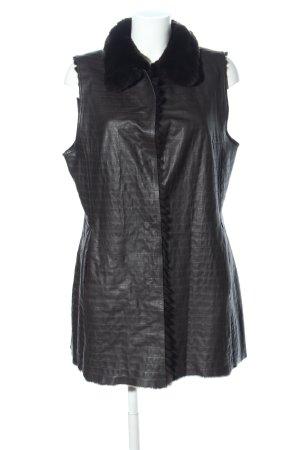 Kleidermanufaktur Habsburg Reversible Vest black quilting pattern casual look