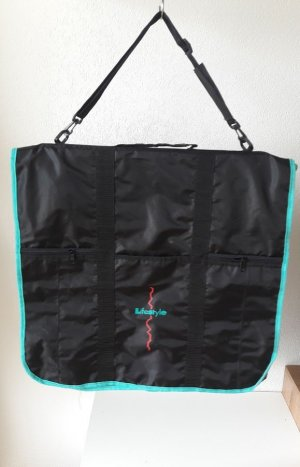Suit Bag black-turquoise polyester