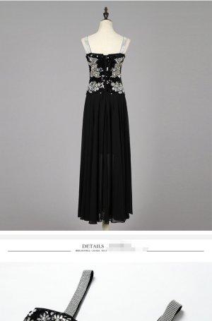 100% Fashion Vestido de noche negro