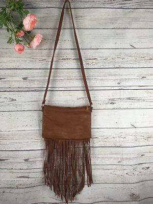 H&M Sac à franges marron clair-brun