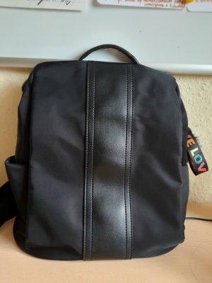 Mini Backpack black mixture fibre
