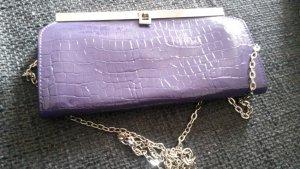 Borsa clutch viola scuro-viola