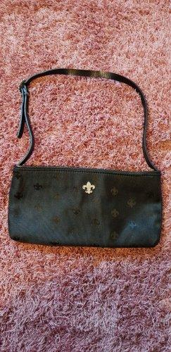 Kleine Abendtasche in Schwarz Fleur De Lis