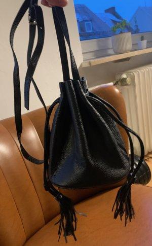 H&M Torebka typu worek czarny Poliakryl