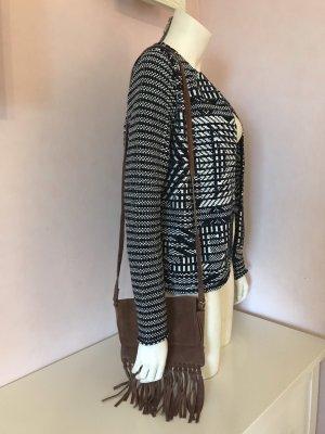 H&M Bolso de flecos marrón claro-color bronce Cuero