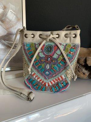 Kleine Bucket Bag, mehrfarbige Umhängetasche