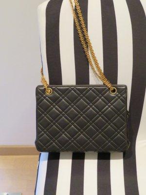 Kleine Chanel Vintage Tasche schwarz aus den 90 er Jahren crossbody Schultertasche