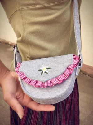 Traditional Bag silver-colored-neon pink
