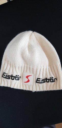 Eisbär Sombrero de punto blanco puro