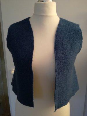 Chaleco de punto azul oscuro lana de esquila