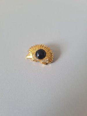Vintage Broche goud-zwart
