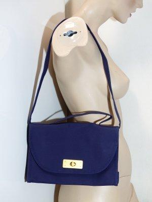 Mini sac bleu foncé-doré tissu mixte
