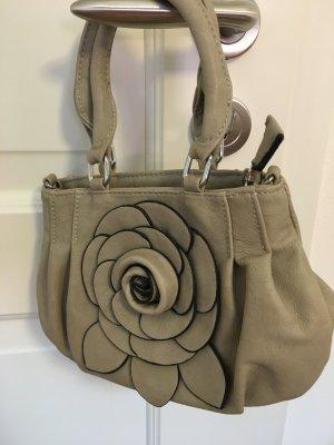 Kleine Handtasche mit Blumen Applikationen