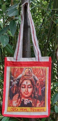 kleine indische Tasche mit Shiva Einkaufstasche original