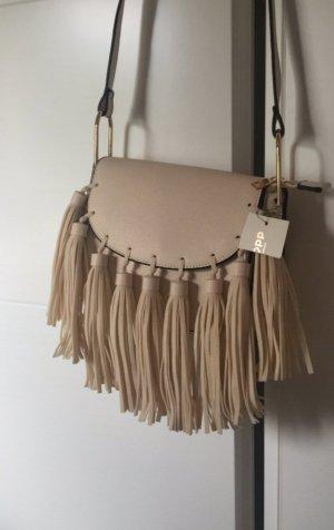Kleine Lederhandtasche mit Fransen NEU!