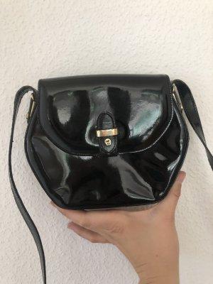 Aigner Mini Bag black-gold-colored leather