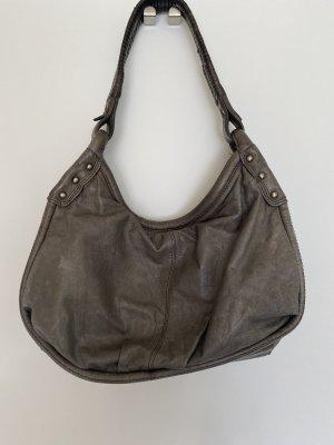 Bolso con correa gris Cuero