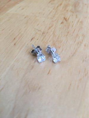 Kleine Ohrstecker 925er Silber Glitzerstein