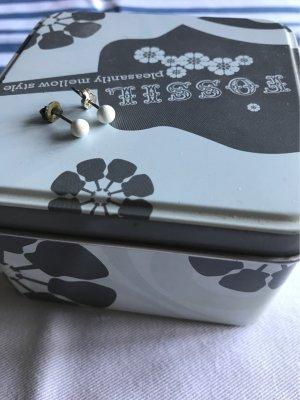 Kleine Perlen  aus weißer Jade