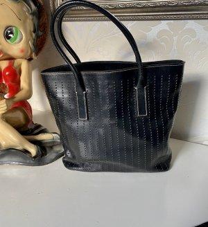 Prada Sac à main noir-argenté cuir