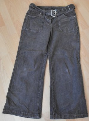 Y.O.U. Pantalone a zampa d'elefante marrone Cotone