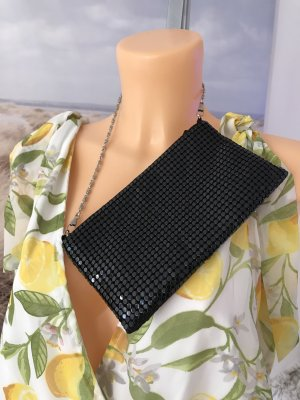 Avon Clutch black-silver-colored polyester
