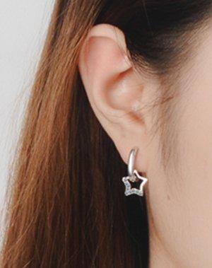 Ah! Jewellery Srebrne kolczyki jasnoszary