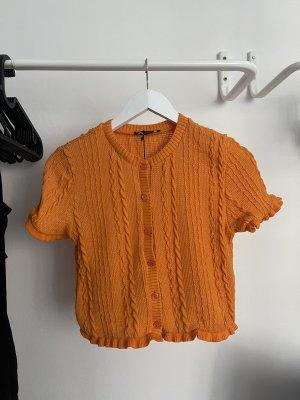 Zara Cárdigan de manga corta naranja