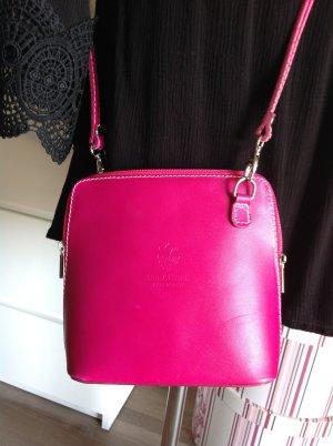 Vera Pelle Mini Bag violet-pink leather