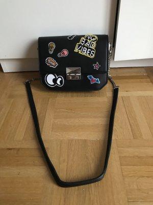 Kleine süße schwarze Zara Handtasche Umhängetasche
