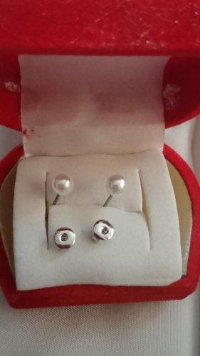 Kleine Süßwasser Perlen Ohrringe Ohrstecker 3mm