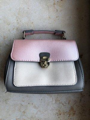 Kleine Tasche grau beige rosé