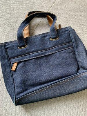 H&M Torebka z rączkami brązowy-ciemnoniebieski