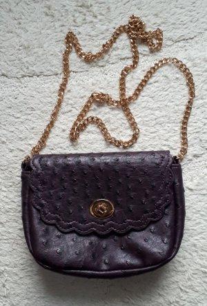 Asos Sac bandoulière doré-violet foncé tissu mixte