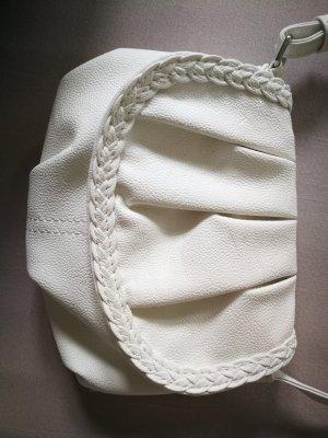 Kleine weiße Tasche mit verstellbarem Träger