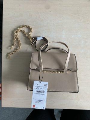 Kleine Zara Handtasche -beige