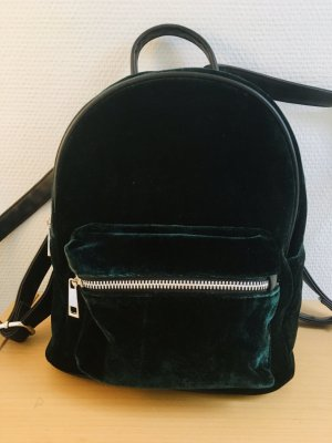 Even & Odd Mochila escolar color plata-verde oscuro