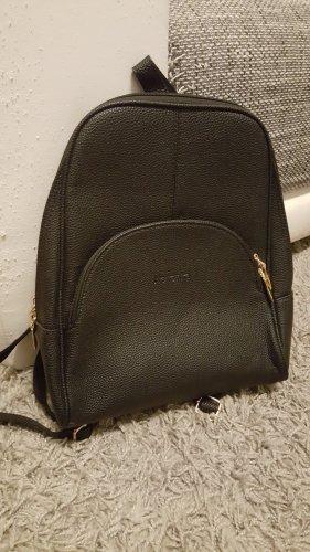 Mini sac à dos noir-doré
