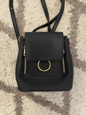 Mały plecak czarny-złoto
