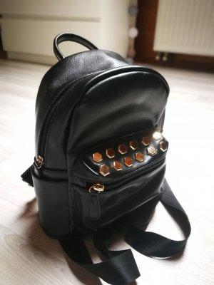 Asos Mini Backpack black-gold-colored