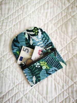 Kleines Portemonnaies aus Baumwolle mit Pflanzen
