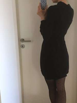 Patrizia Pepe Robe bas asymétrique noir viscose