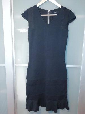Oui Vestido estilo camisa negro