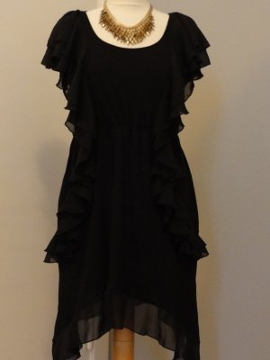H&M Fringed Dress black cotton