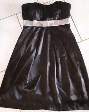 Bon Prix Off the shoulder jurk zwart-zilver