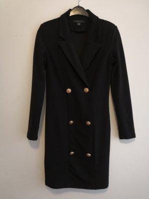 Amisu Sukienka płaszczowa czarny-złoto