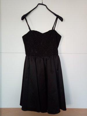 H&M Vestido corsage negro