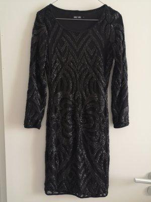 Only Robe à paillettes noir-gris anthracite