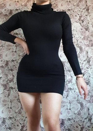 Boohoo Knitted Dress black cotton